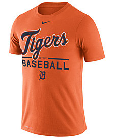 Nike Women's Detroit Tigers Cotton Crew Logo T-Shirt