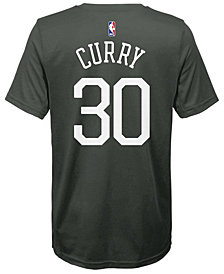 Nike Stephen Curry Golden State Warriors Statement Name and Number T-Shirt, Big Boys (8-20)