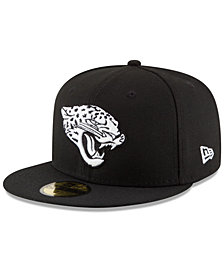 New Era Jacksonville Jaguars Chase Black White 59Fifty Fitted Cap