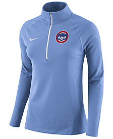 Nike Women's Chicago Cubs Half-Zip Element Pullover