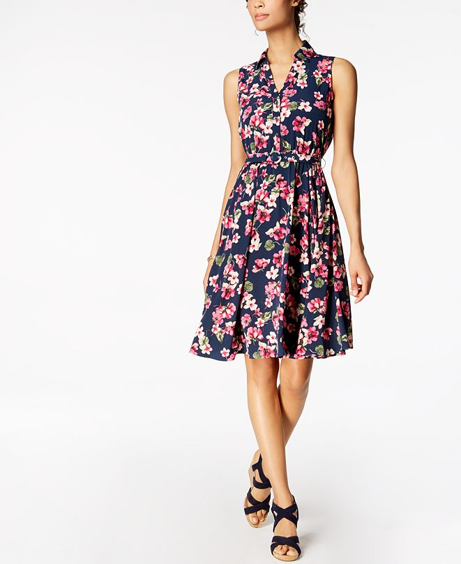 Charter Club Fit & Flare Shirtdress, Created for Macy's