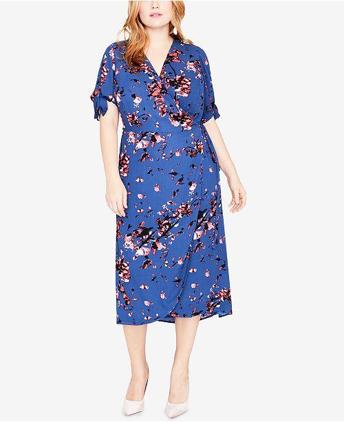 fe2fed048b8 RACHEL Rachel Roy Trendy Plus Size Wrap Dress