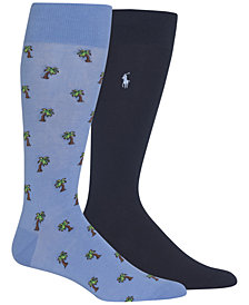 Polo Ralph Lauren Men's 2-Pk. Palm-Print Socks