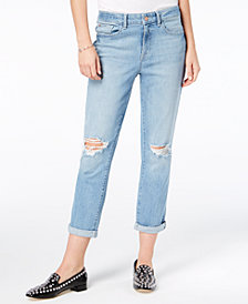 M1858 Cora Ripped Slim Boyfriend Jeans, Created for Macy's