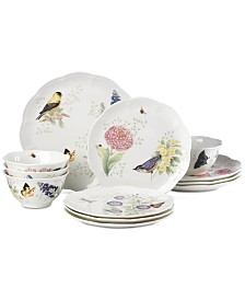 Lenox Butterfly Meadow Flutter 12-Pc. Dinnerware Set, Service for 4