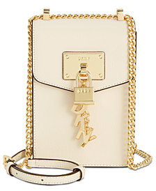 DKNY Elissa Pebbled Charm Chain Strap Crossbody, Created for Macy's
