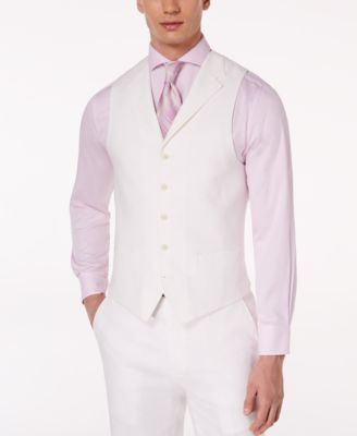 Men's Classic-Fit White Suit Vest