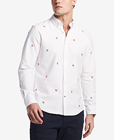 Tommy Hilfiger Men's New England Critter Embroidered-Logo Shirt, Created for Macy's