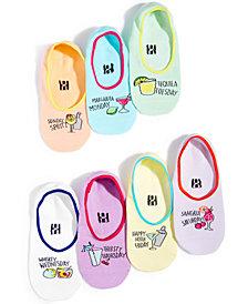 HUE® Women's 7-Pk. Sock-of-the-Day Boxed Liner Socks