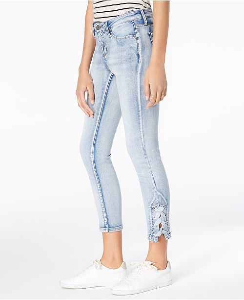 Hem Up Jeans Skinny Juniors' Desire Blue Gibson Lace 7BPUxq