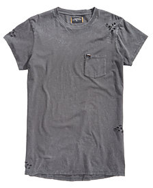 Superdry Men's Longline Destroyed Pocket T-Shirt