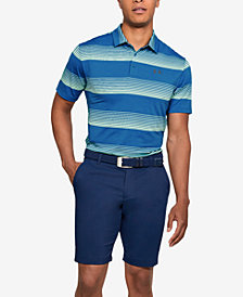 Under Armour Men's Playoff Performance Ombre Striped Golf Polo