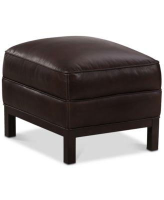 Benita Leather Ottoman, Created For Macy's