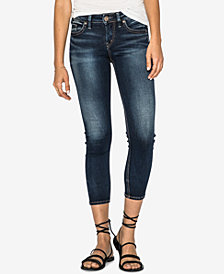 Silver Jeans Co. Suki Mid Rise Curvy Skinny Crop Jeans