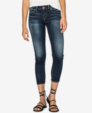Silver Jeans Co. Suki Mid Rise Curvy Skinny Crop Jeans 5537235