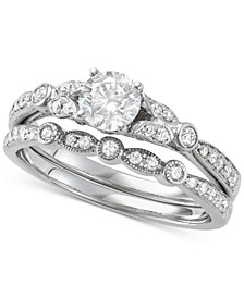 Diamond Bridal Set (1 ct. t.w.) in 14k White Gold