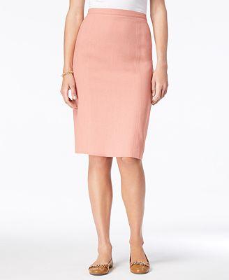 Alfred Dunner La Dolce Vita Straight Skirt