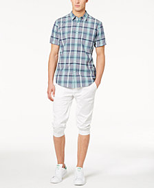 American Rag Men's Theo Plaid Shirt & Cropped Joggers, Created for Macy's