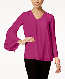 Alfani Petite Bell-Sleeve Blouse, Created for Macy's