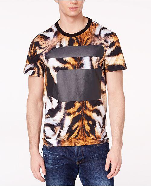 G-Star Tiger print T-shirt Acheter Pas Cher Manchester Eastbay Prix Pas Cher chaud uMLsD