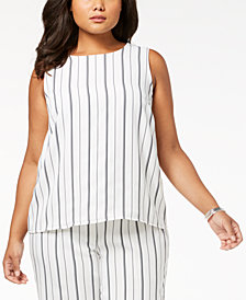 Nine West Plus Size Striped Shell