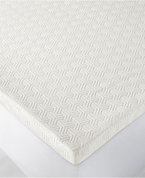 "Martha Stewart Collection Dream Science 2"" Memory Foam Mattress Topper, Created for Macy's"