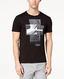 "Calvin Klein Men's Photographic-Print T-Shirt & Slim-Fit Textured 9"" Shorts"