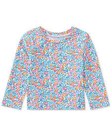 Ralph Lauren Floral-Print Rash Guard, Baby Girls