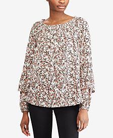 Lauren Ralph Lauren Petite Printed Cotton Top