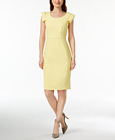 Calvin Klein Petite Cap-Sleeve Sheath Dress