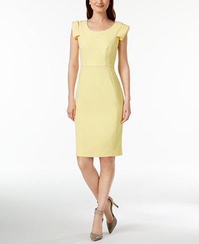 Calvin Klein Cap-Sleeve Sheath Dress, Regular & Petite Sizes