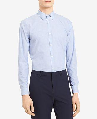 Calvin Klein Men's Infinite Cool Yarn-Dyed Stripe Poplin Shirt