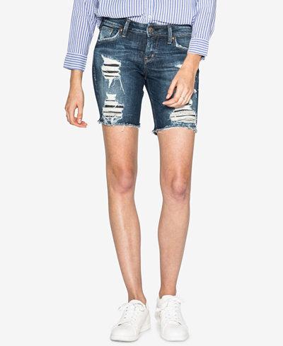 Silver Jeans Co. Ripped Denim Bermuda Shorts