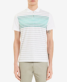 Calvin Klein Men's Liquid Touch Engineered Stripe Polo