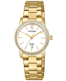 Citizen Women's Quartz Gold-Tone Stainless Steel Bracelet Watch 27mm