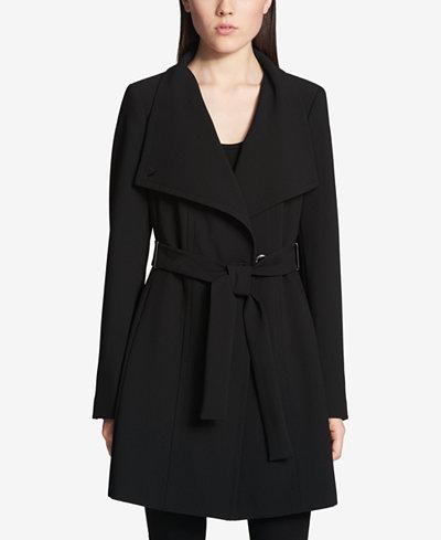 Calvin Klein Petite Asymmetrical Trench Coat