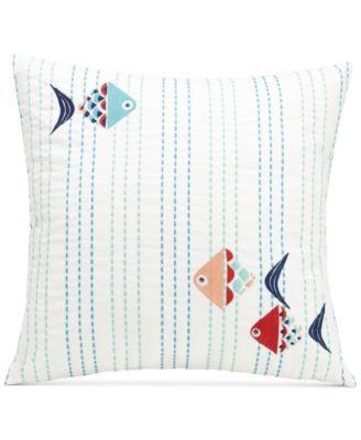 """Go Fish 16"""" Square Decorative Pillow"""