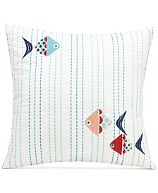 "Vera Bradley Go Fish 16"" Square Decorative Pillow"