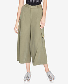 RACHEL Rachel Roy Wide-Leg Cargo Pants, Created for Macy's