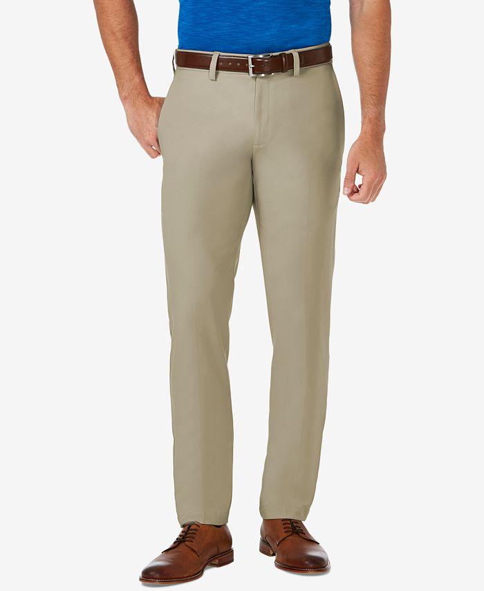 Haggar - Men's Cool 18 PRO® Slim-Fit Flat Front Stretch Dress Pants