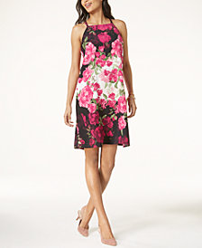 Alfani Petite Floral-Print Halter Shift Dress, Created for Macy's