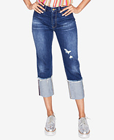 RACHEL Rachel Roy Ripped Cuffed Jeans, Created for Macy's