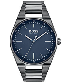 BOSS Hugo Boss Men's Magnitude Gray Stainless Steel Bracelet Watch 42mm
