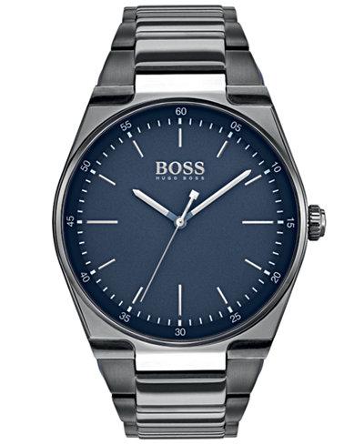 BOSS Hugo Boss Men's Magnitude Gray Stainless Steel Bracelet Watch 42mm
