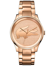 Lacoste Women's Victoria Rose Gold-Tone Stainless Steel Bracelet Watch 38mm
