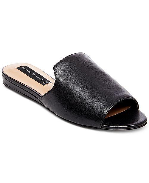 Steve Madden Steven by Steve Madden Sensai Leather Slip-On Sandals IyudYhR7