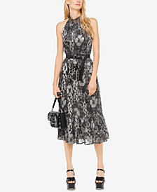 MICHAEL Michael Kors Metallic Midi Dress