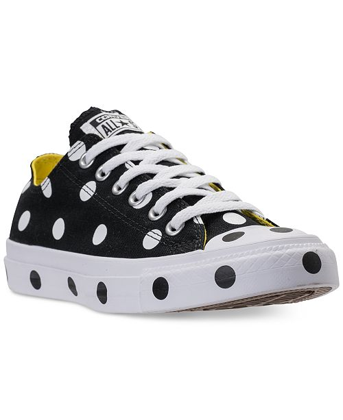 ... Converse Women s Chuck Taylor Ox Polka Dot Casual Sneakers from Finish  ... bfbfc010e