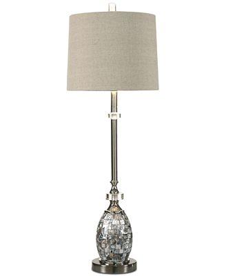 Uttermost Ceredano Capiz Shell Buffet Table Lamp Lighting Lamps