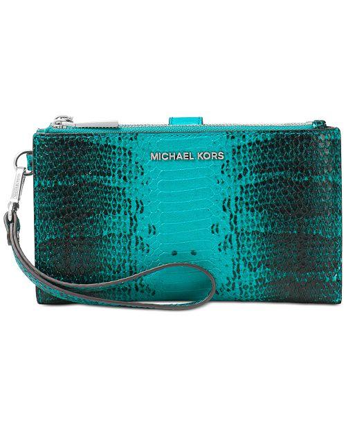 94bf7e2d3865 Michael Kors Snakeskin Phone Wristlet   Reviews - Handbags ...